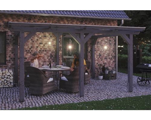 Toiture pour terrasses Skanholz Siena 434 x 250 cm, gris ardoise