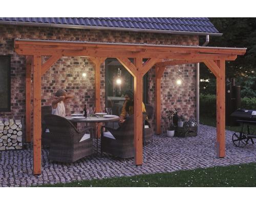 Toiture pour terrasses Skanholz Siena 434 x 250 cm, chêne clair