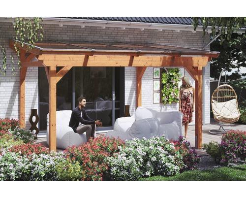 Toiture pour terrasses Skanholz Sanremo 434 x 250 cm, chêne clair