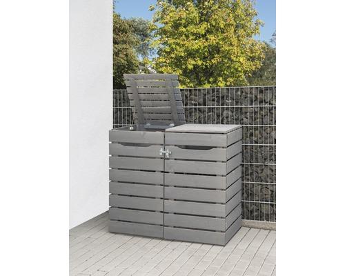 Cache-poubelle Konsta Style type 545 double 142 x 81 x 120 cm gris