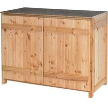 Gartenschrank/Outdoorküche Sideboard 2 Türen Typ 543 120x58x92 cm Douglasie-thumb-0
