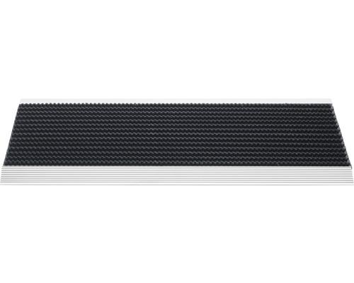 Paillasson en aluminium Outline noir 35x80 cm