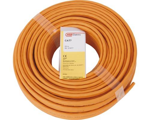 Câble de données CAT 7, Duplex 2x (4x2xAWG23/1) orange 25m