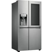 Side by Side Kühlschrank LG GSI961PZAZ BxHxT 91,2 x 179 x 73,8 cm Kühlteil 411 l Gefrierteil 214 l 431 kWh/Jahr edelstahl mit InstaView-Funktion: klopfen und reinschauen-thumb-7