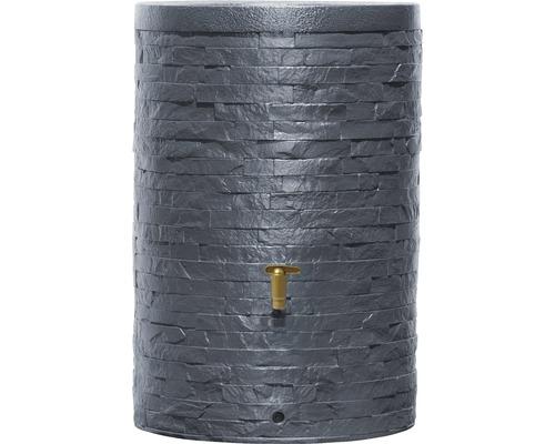 Cuve de collecte d''eau de pluie ARONDO 250 L gris graphite-0