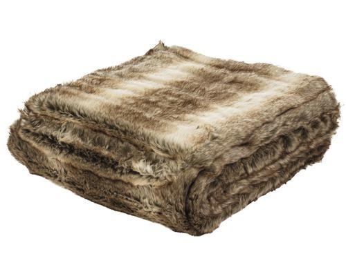 Decke Felloptik Braunbär 150x200 cm