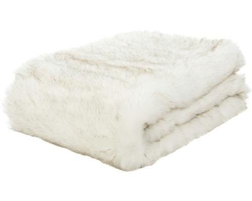 Decke Felloptik Schneefuchs 150x200 cm