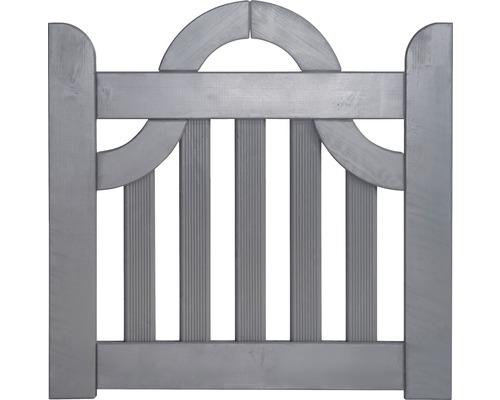 Portail à un vantail coude 300 x 95 cm, gris clair