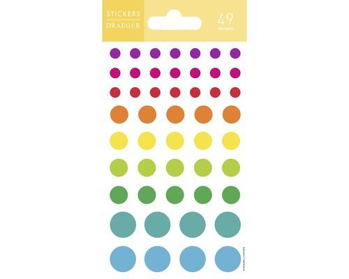 Mini stickers Points multicolores 49pces