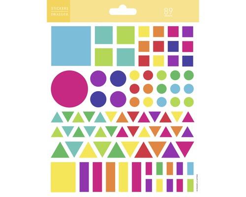 Mini stickers Formes géométriques 89pces