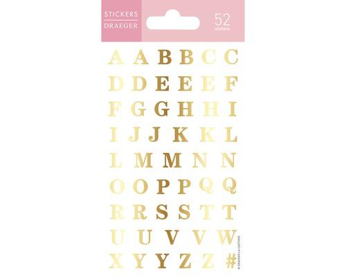 Mini stickers Elle 017 Alphabet doré 52pces