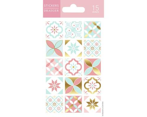 Mini stickers Elle Carreau Pastel 15pces