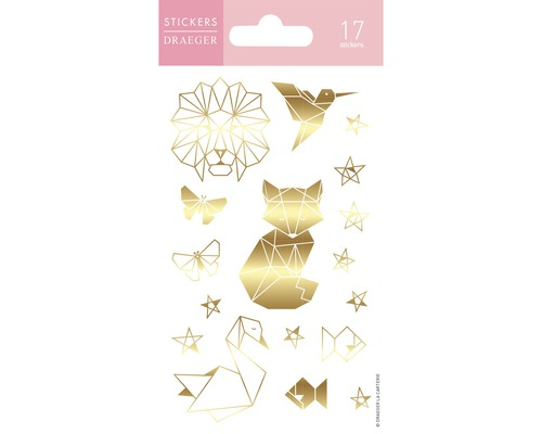 Mini stickers Elle Origami B&G 17pces