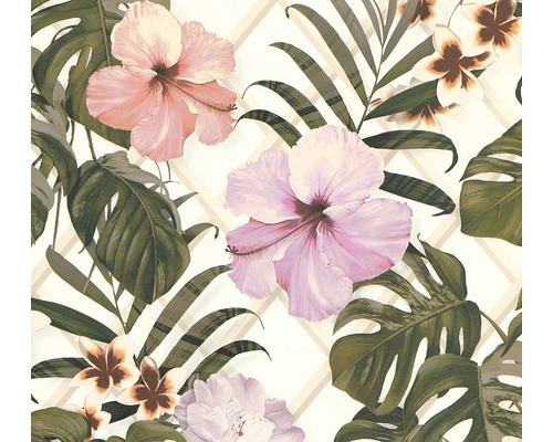 Papier peint intissé 36518-1 Vliesfashion 2 feuilles de palmier