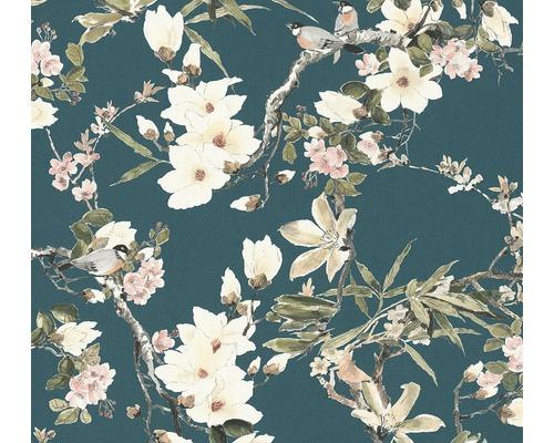Papier peint intissé 36498-4 Vliesfashion 2 Floral turquoise