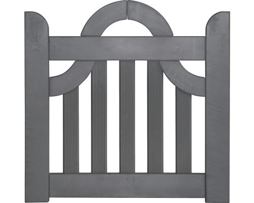 Portail à un vantail coude 300 x 95 cm, gris basalte