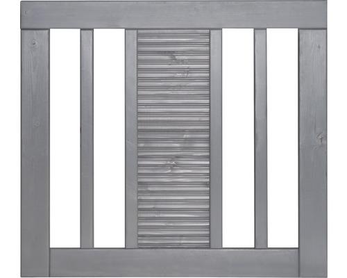 Portail à un vantail Fenris 90 x 90 cm, gris clair