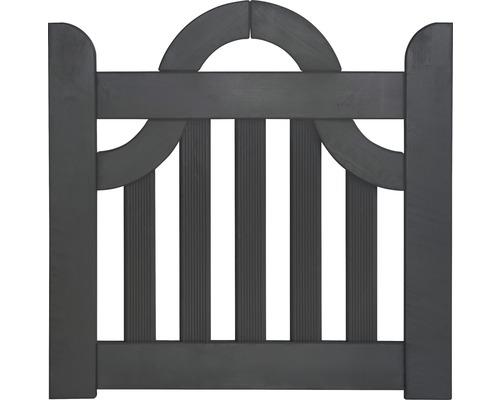 Portail à un vantail clôture de jardinet coude 300 x 95 cm, anthracite