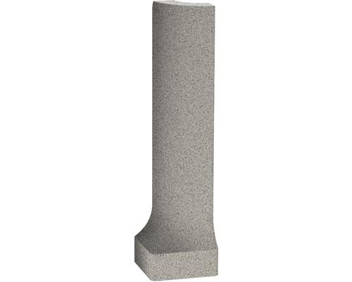 Moulure creuse d''angle extérieur en grès cérame fin Nevada gris disparate 9x2,3 cm