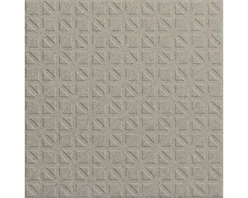 Carrelage pour sol en grès cérame fin Nevada gris disparate 20x20 cm R12BV4 9 mm d''épaisseur