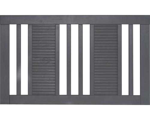 Clôture de jardinet Fenris 180 x 90 cm, gris basalte