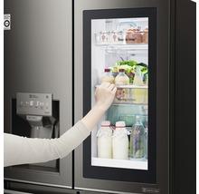Side by Side Kühlschrank LG GSI961PZAZ BxHxT 91,2 x 179 x 73,8 cm Kühlteil 411 l Gefrierteil 214 l 431 kWh/Jahr edelstahl mit InstaView-Funktion: klopfen und reinschauen-thumb-18