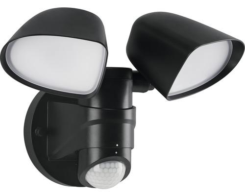 Éclairage extérieur LED avec capteur 10W 1.000lm noir