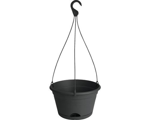 Set de pots suspendus elho Corsica, plastique, Ø 28 H 18 cm, noir