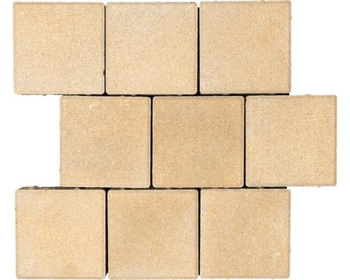 Pavé carré Caravel mélange beige 16 x 16 x 6 cm-0