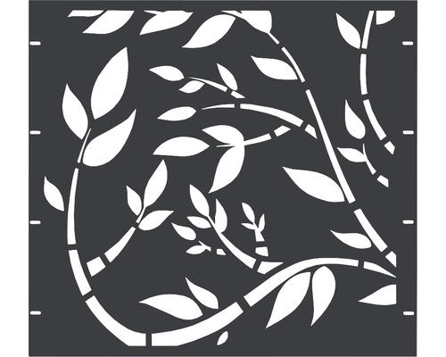 Élément partiel GABIO Floral 90x90cm anthracite