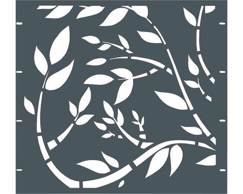Élément partiel GABIO Floral 90x90cm gris clair