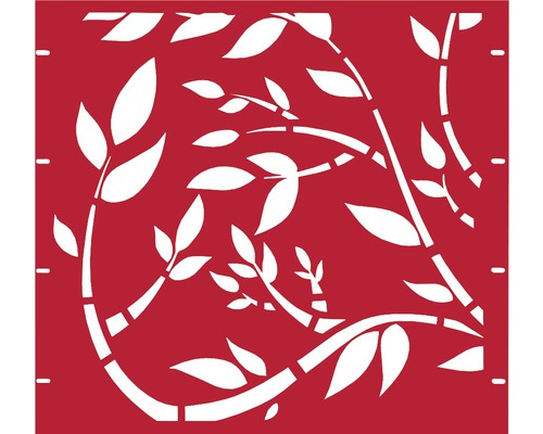 Élément partiel GABIO Floral 90x90cm rouge rubis