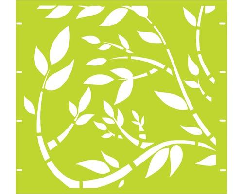 Élément partiel GABIO Floral 90x90cm vert clair