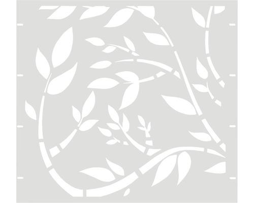 Élément partiel GABIO Floral 90x90cm blanc