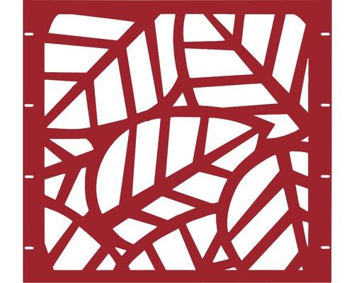 Élément partiel GABIO Palms 90x90cm rouge rubis