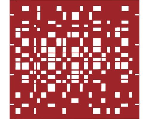 Élément partiel GABIO Geometrie 90x90cm rouge rubis