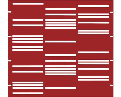 Élément partiel GABIO Stripes 90x90cm rouge rubis