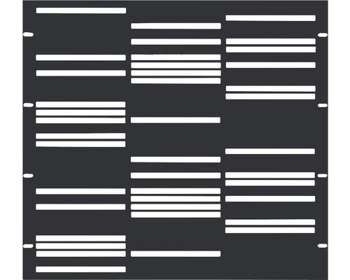 Élément partiel GABIO Stripes 90x90cm anthracite