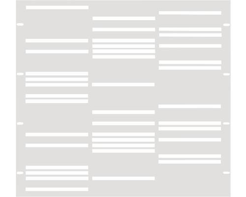 Élément partiel GABIO Stripes 90x90cm blanc