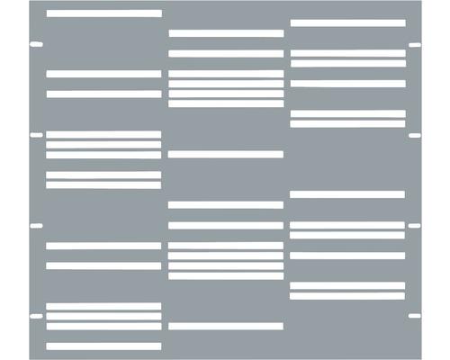 Élément partiel GABIO Stripes 90x90cm gris clair