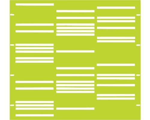 Élément partiel GABIO Stripes 90x90cm vert clair