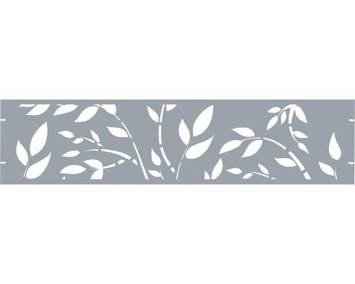 Clôture de jardinet GABIO Floral 180x45cm gris clair