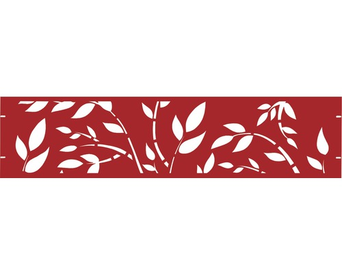 Clôture de jardinet GABIO Floral 180x45cm rouge rubis