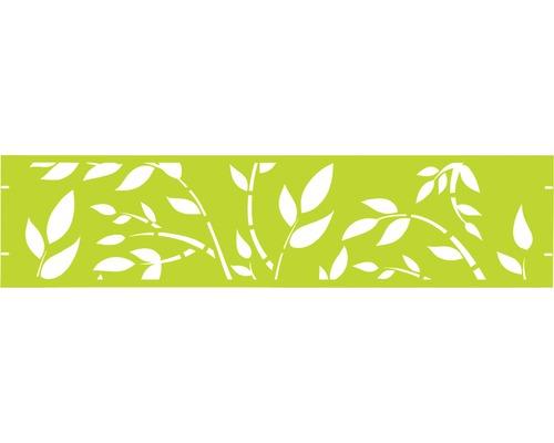 Clôture de jardinet GABIO Floral 180x45cm vert clair