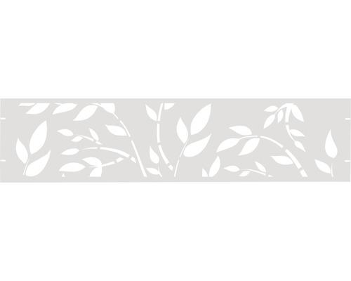 Clôture de jardinet GABIO Floral 180x45cm blanc