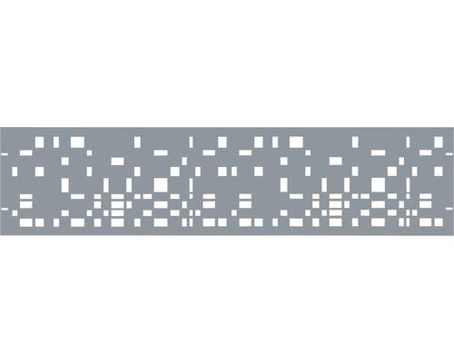 Clôture de jardinet GABIO Geometrie 180x45cm gris clair