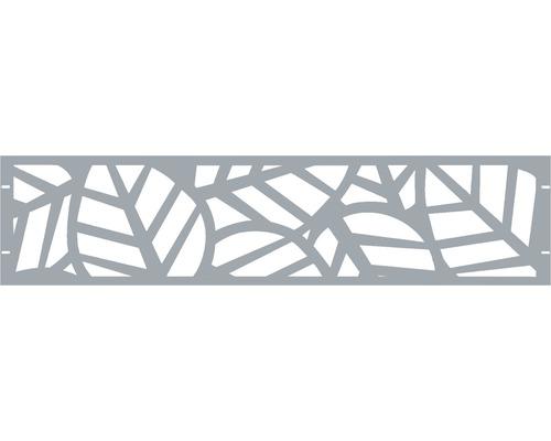 Clôture de jardinet GABIO Palms 180x45cm gris clair