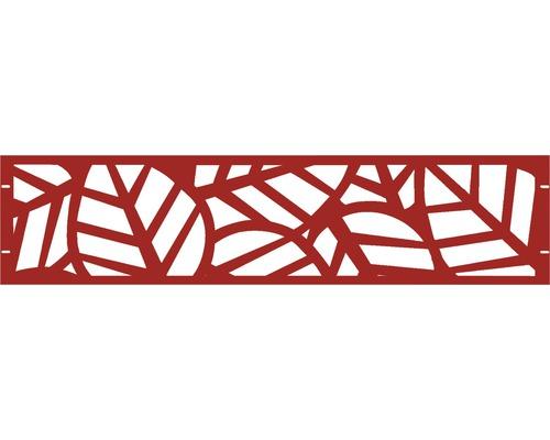 Clôture de jardinet GABIO Palms 180x45cm rouge rubis