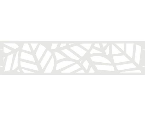 Clôture de jardinet GABIO Palms 180x45cm blanc