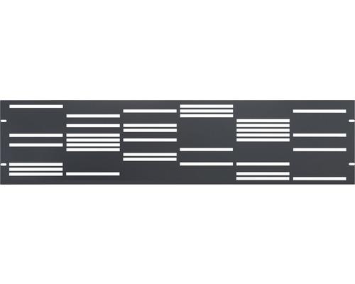 Clôture de jardinet GABIO Stripes 180x45cm anthracite